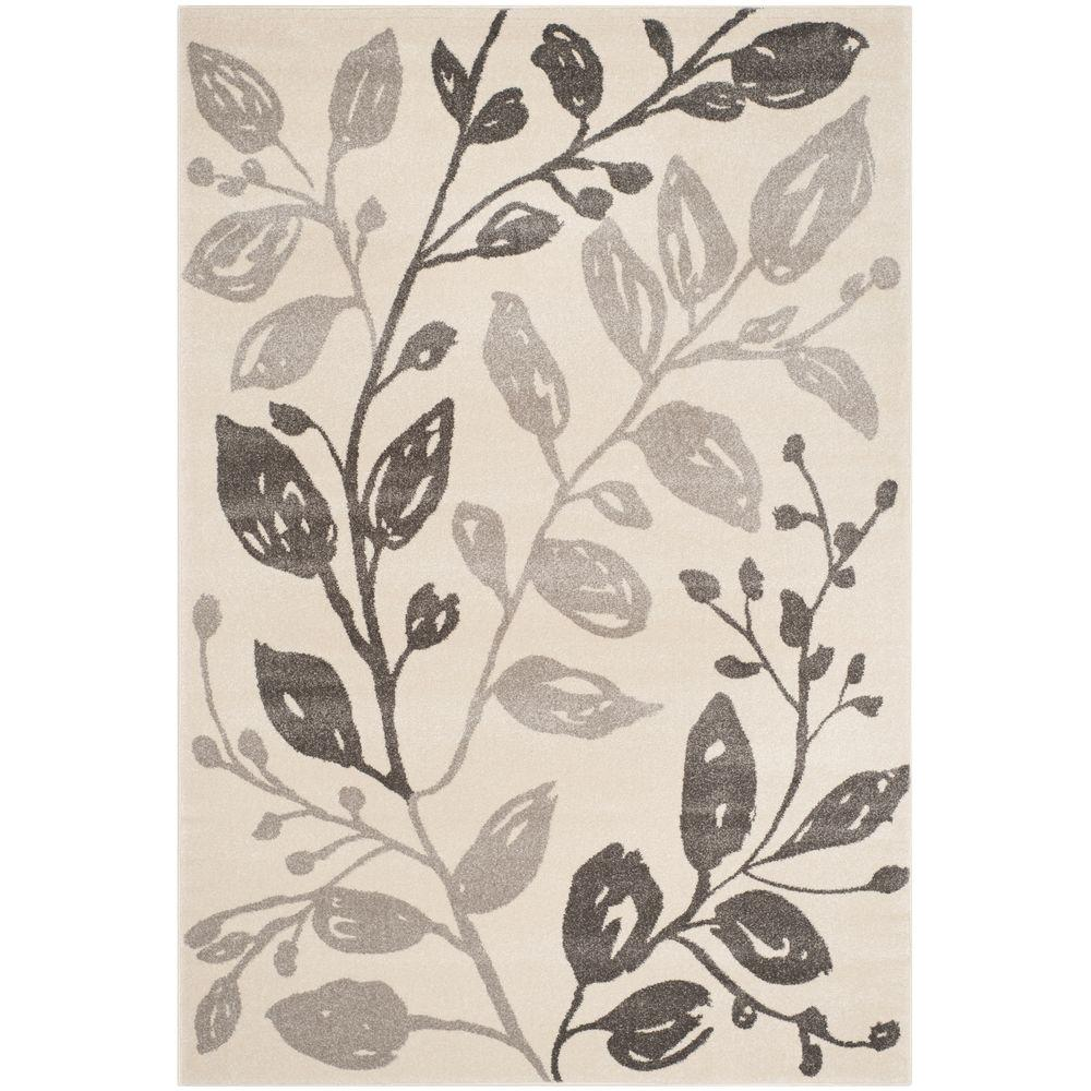 Porcello Ivory/Grey 4 ft. x 5 ft. 7 in. Area Rug