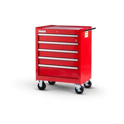 Workshop Series 27 in. 5-Drawer Roller Cabinet Tool Chest in Red