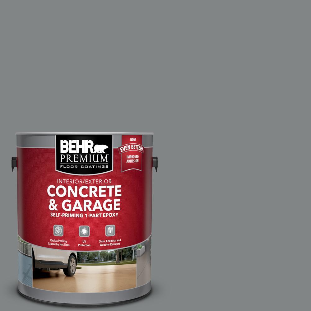 BEHR Premium 1 gal. #PFC-63 Slate Gray Self-Priming 1-Part Epoxy Satin Interior/Exterior Concrete and Garage Floor Paint