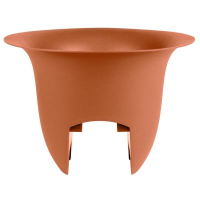 Modica 12 in. x 8.75 in. Terra Cotta Plastic Deck Rail Planter