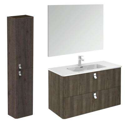 39 in. W x 20 in. D x 23 in. H Complete Bathroom Vanity Unit in Samara Ash with Mirror and Column