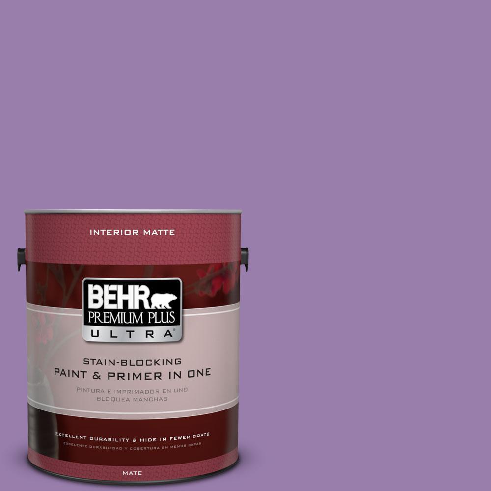 1 gal. #650B-6 Elite Wisteria Matte Interior Paint and Primer in