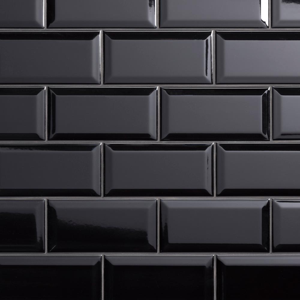 Black Backsplash Tile Flooring