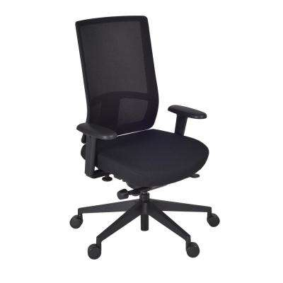 Patriot Black and Storm Swivel Chair