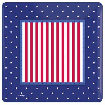10 in. x 10 in. American Classic Square Paper Plate (8-Count, 5-Pack)