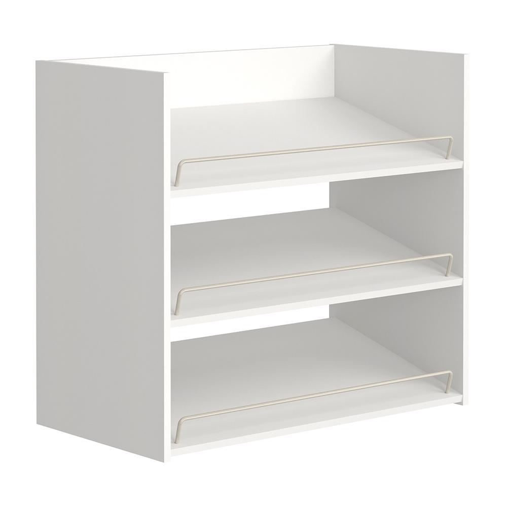 Impressions 3-Shelf White Shoe Organizer