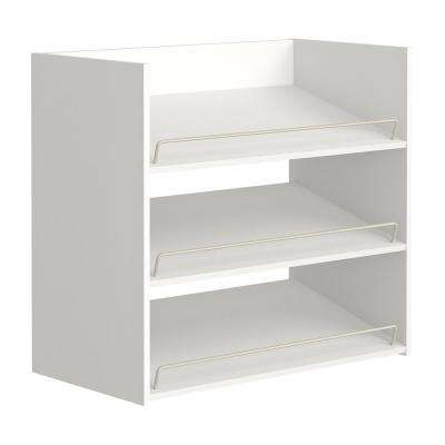 Impressions 3 Shelf White Shoe Organizer