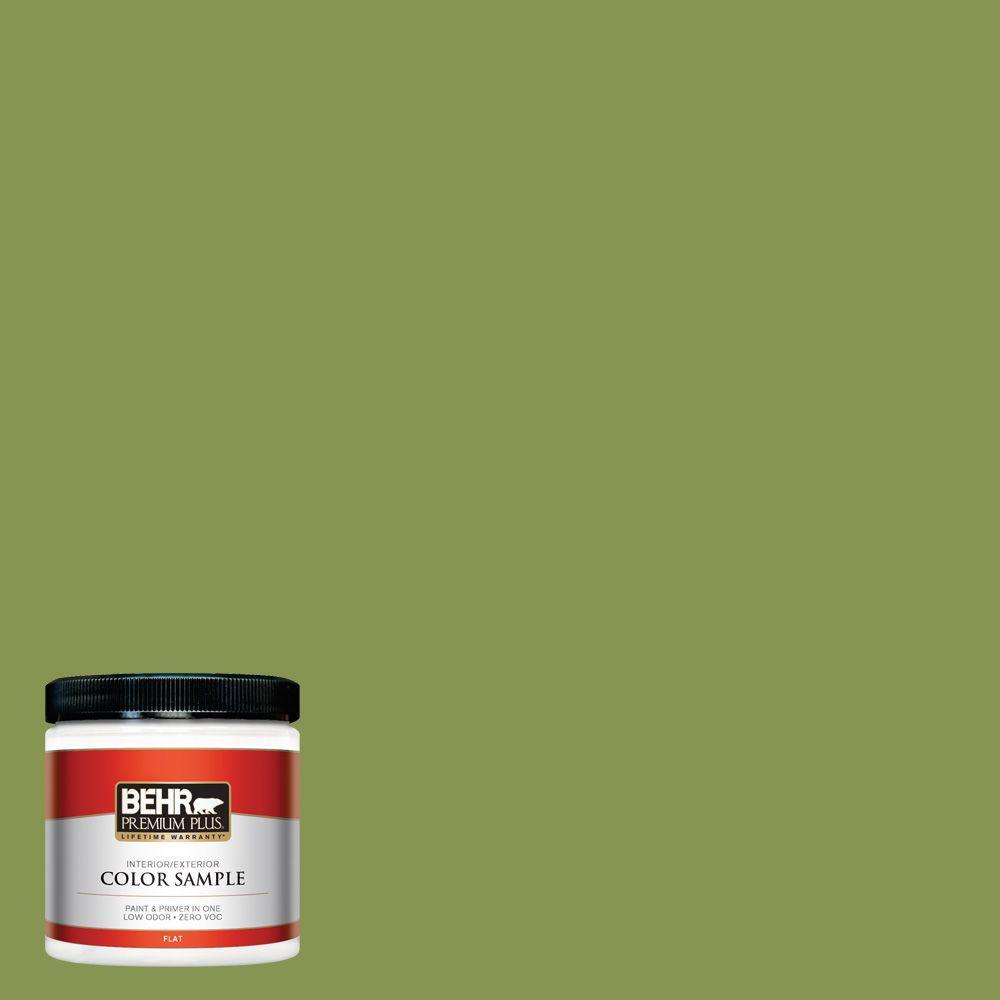 BEHR Premium Plus 8 oz. #M350-6 Frog Interior/Exterior Paint Sample