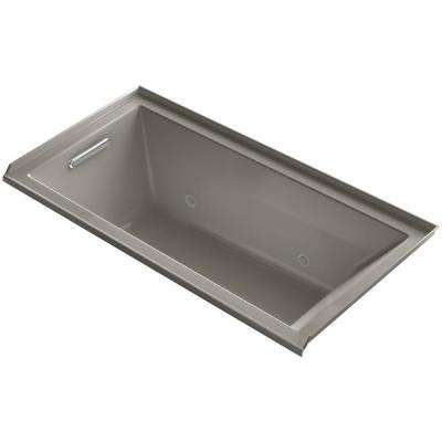 Underscore 5 ft. Whirlpool Tub with Left Drain in Cashmere