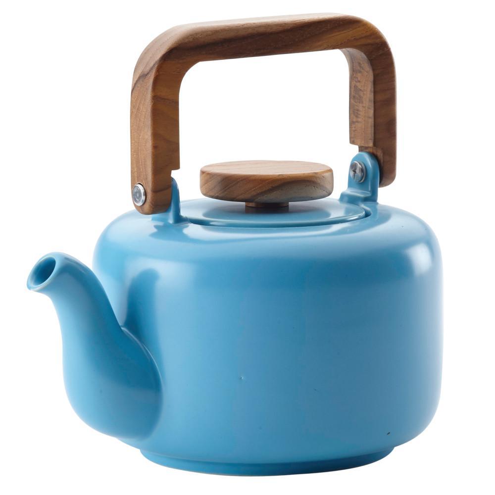 Ceramic Coffee and Tea 4-Cup Ceramic Teapot with Infuser, Aqua