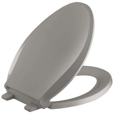 Cachet Quiet-Close Elongated Closed-Front Toilet Seat with Grip-Tight Bumpers in Cashmere