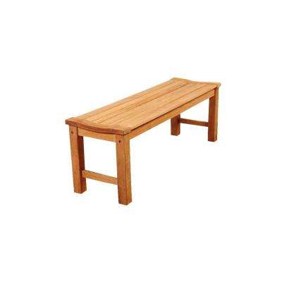 Phelps 51 in. Teak Backless Patio Bench