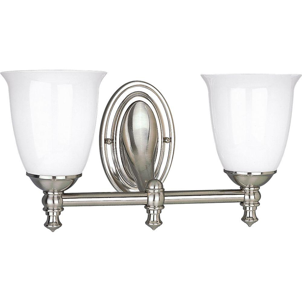 victorian bathroom lighting fixtures progress lighting collection 2 light brushed 21207