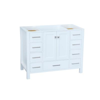 Cambridge 42 in. W Vanity Cabinet Only in White
