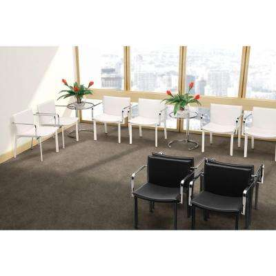 Gekko Black Leatherette Conference Office Chair (Set of 2)