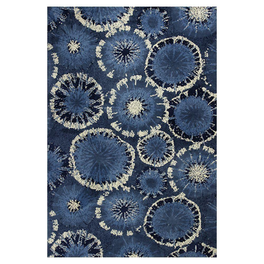 Kas Rugs Burst of Light Blue 5 ft. x 7 ft. Area Rug