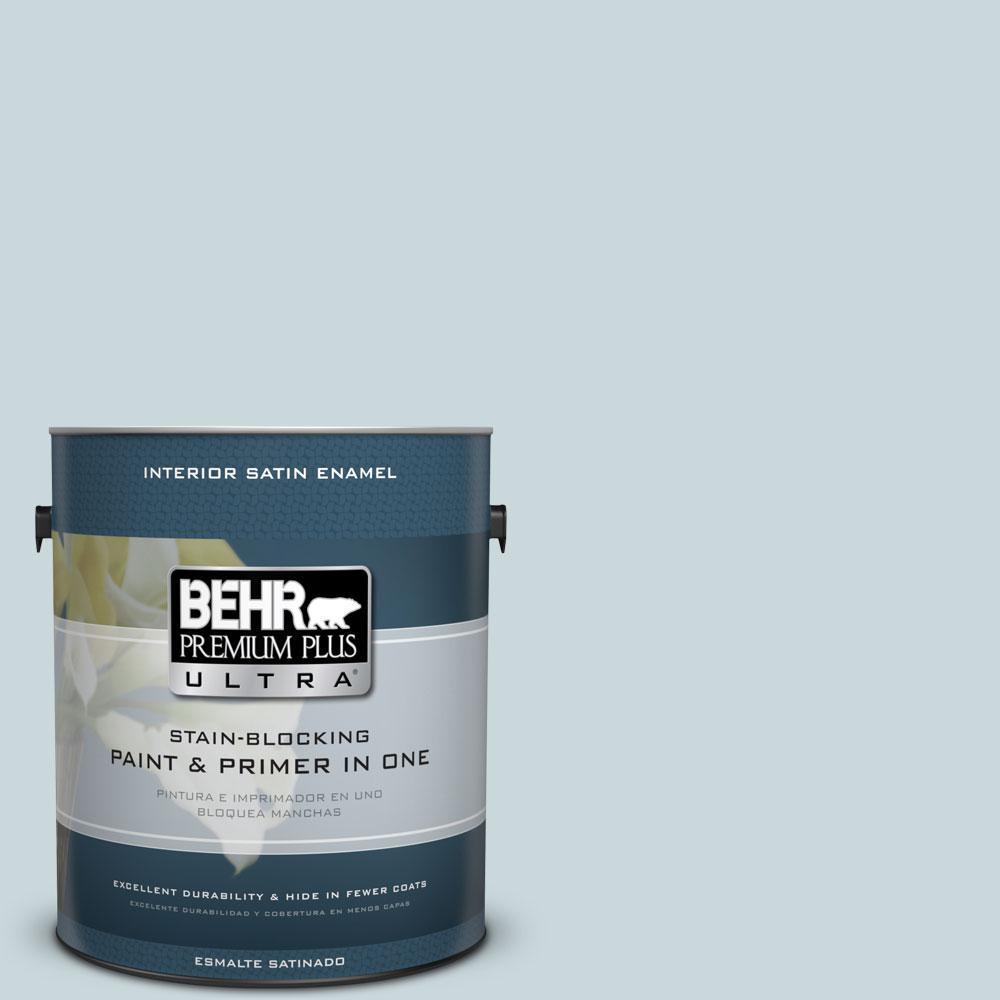 BEHR Premium Plus Ultra 1-Gal. #PPU13-16 Offshore Mist Satin Enamel Interior Paint