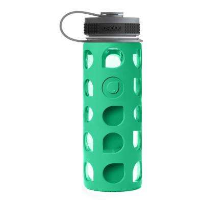 20 oz. Green Nature Way Glass Bottle