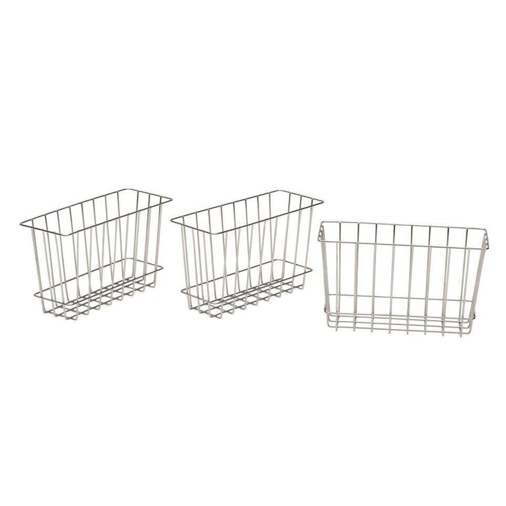 8 in. H x 4 in. D Laundry Storage Metal Baskets