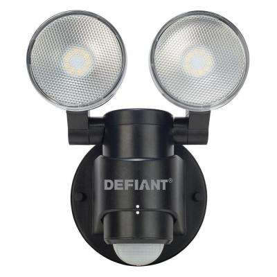 180 Degree 2-Head Black Motion Activated Outdoor Flood Light