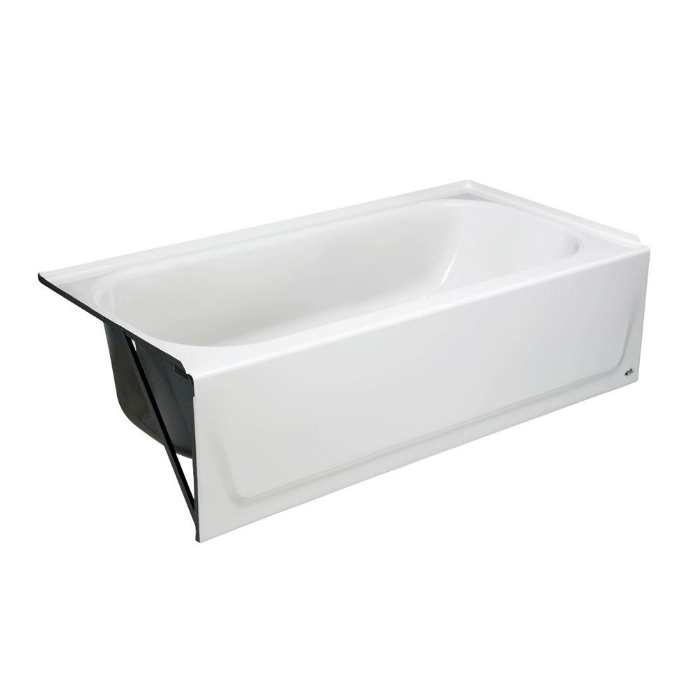 Bootz industries maui 60 in left drain rectangular alcove for Deep alcove bathtubs
