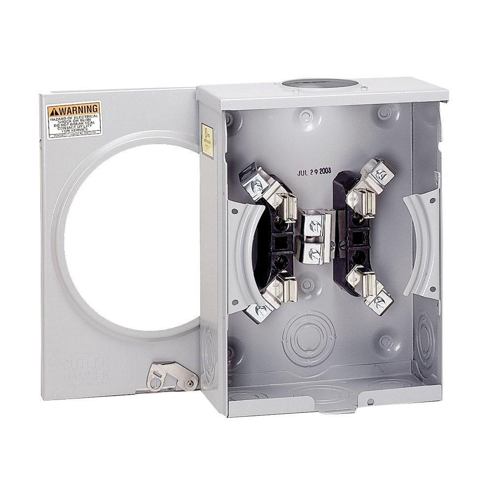 Eaton 100 Amp Single Meter Socket Uatrs101cch The Home Depot