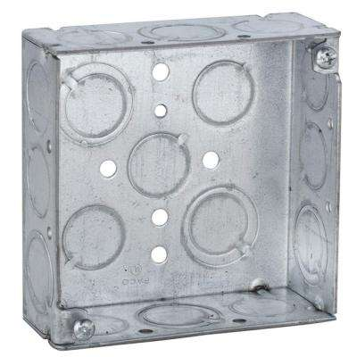 4 in. Square Welded Box, 1-1/2 Deep with 1/2 & 3/4 in. TKO's (50-Pack)