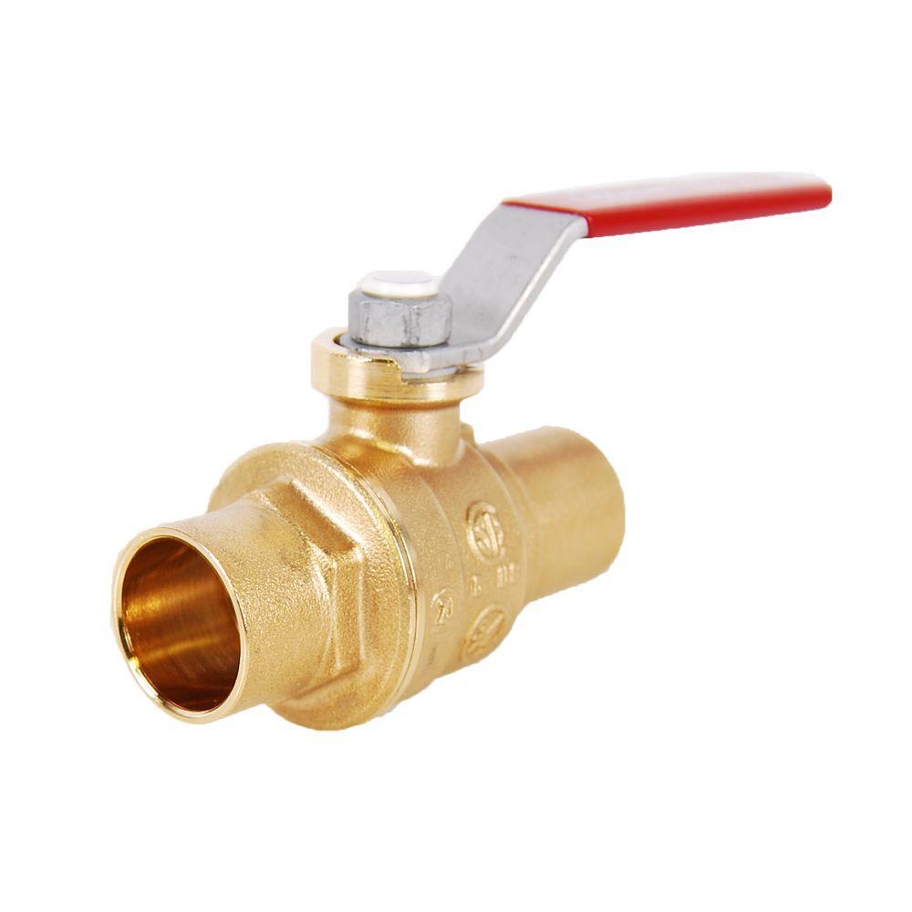 1 in lead free brass sweat x sweat ball valve