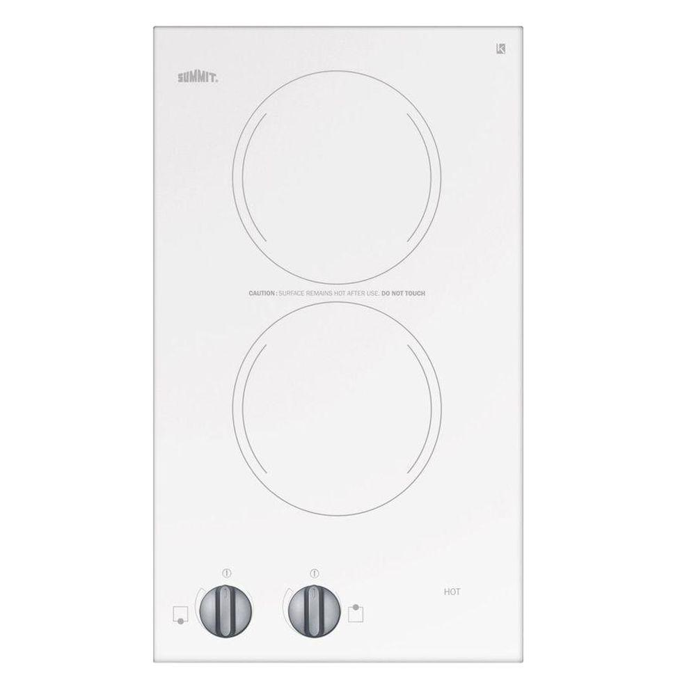 Radiant Electric Cooktop In White With 2 Elements Cr2110wh The Home Depot