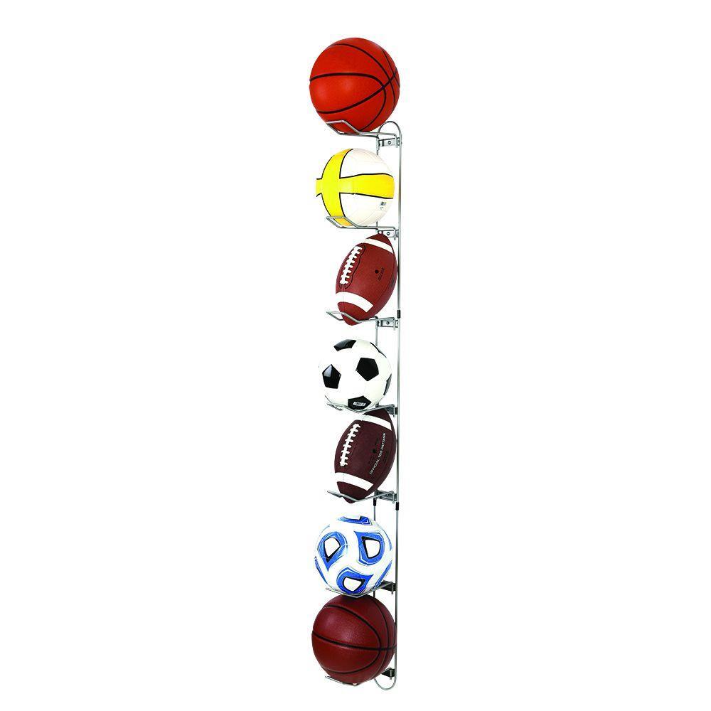 Sports Ball Storage Rack Garage Wall Mount Soccer Basketball Football Organizer
