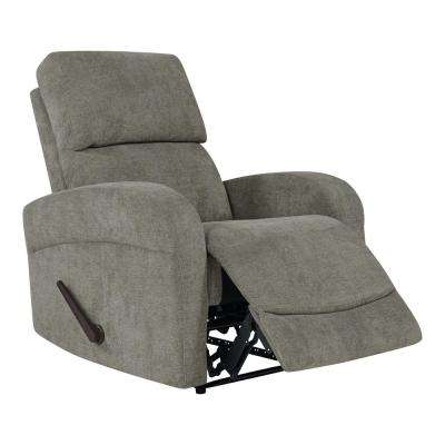 Rocker Recliner in Warm Gray Chenille