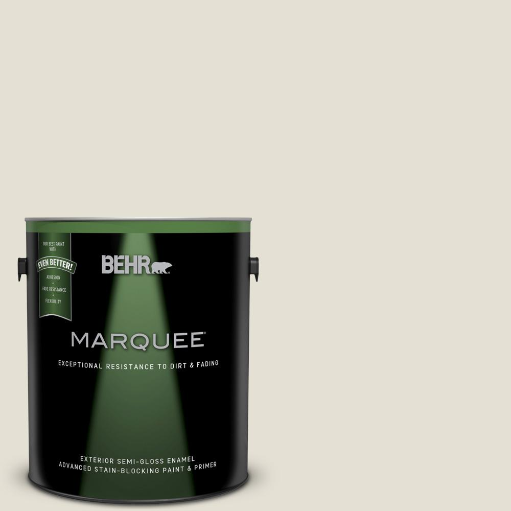 BEHR MARQUEE 1-gal. #BWC-17 Shark Tooth Semi-Gloss Enamel Exterior Paint