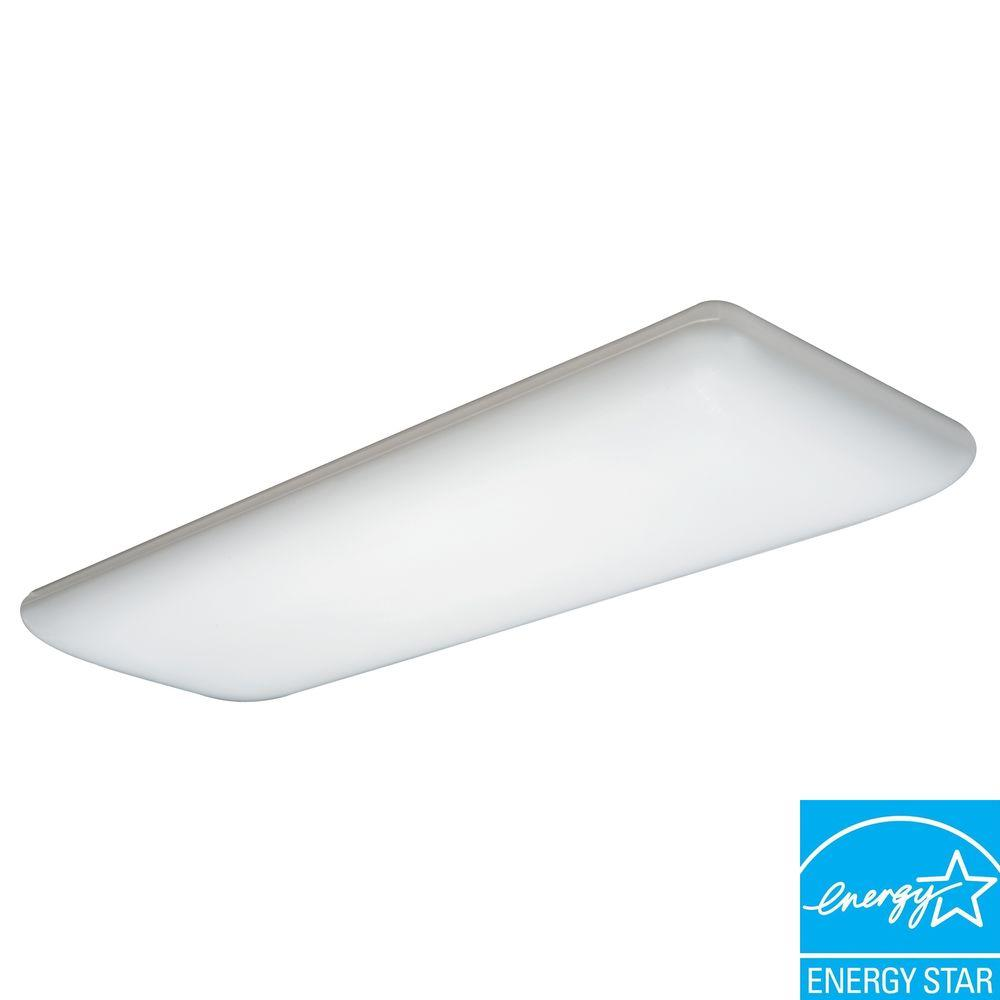Fluorescent Light Fixture Covers Replacement: N 4-Light White Fluorescent Ceiling Light-10642RE