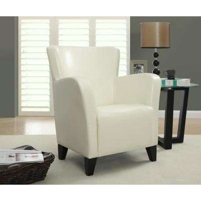 Europa Ivory Leather-Look Club Arm Chair