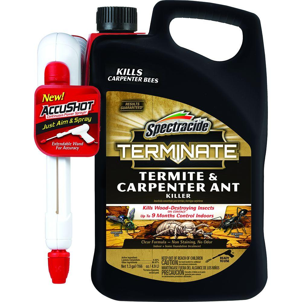 Uncategorized Spray To Kill Termites spectracide terminate 1 3 gal accushot ready to use termite and carpenter ant killer spray hg 96375 the home depot