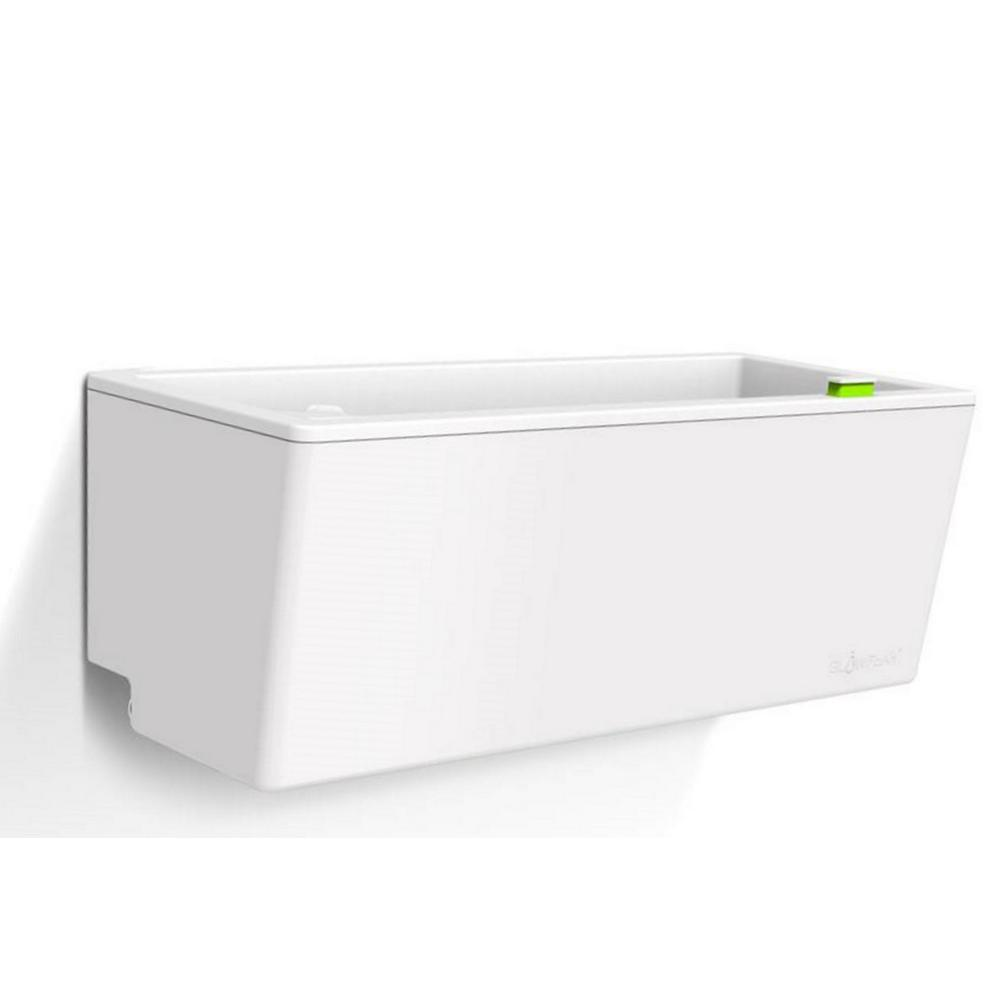 23.6 in. x 10.1 in. White Plastic Mini Wall Planter