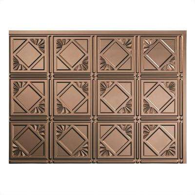 24 in. x 18 in. Traditional 4 PVC Decorative Backsplash Panel in Argent Bronze