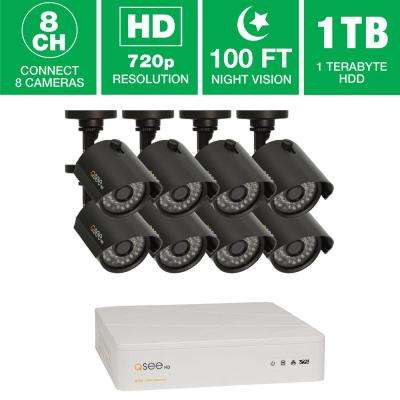 8-Channel 720p 1TB Video Surveillance System with 8 HD Cameras and 100 ft. Night Vision