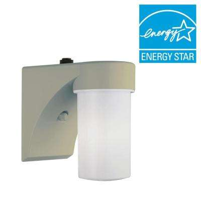 White Fluorescent Outdoor Wall-Mount Cylinder Light