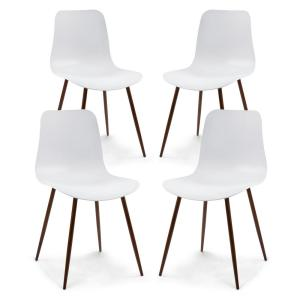 Alva White Dining Chair (Set of 4)
