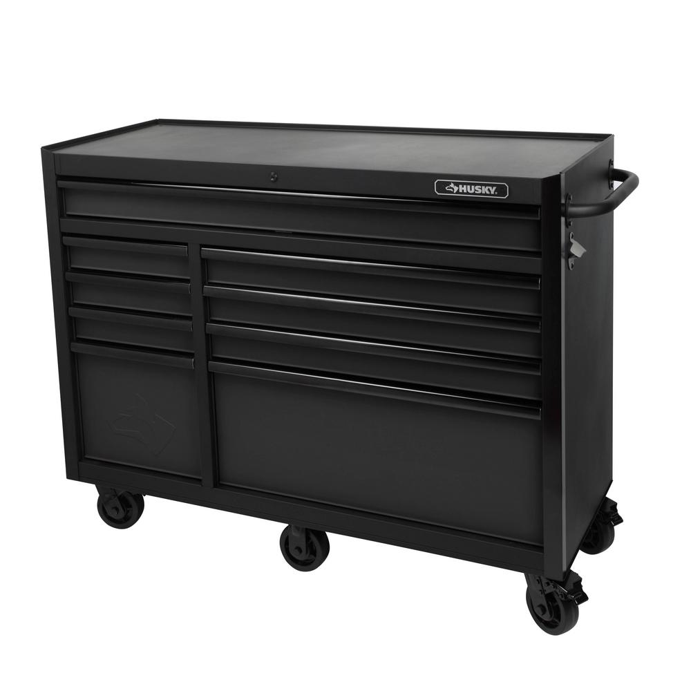 Husky 52 In 9 Drawer Tool Cabinet Textured Black H52tr9