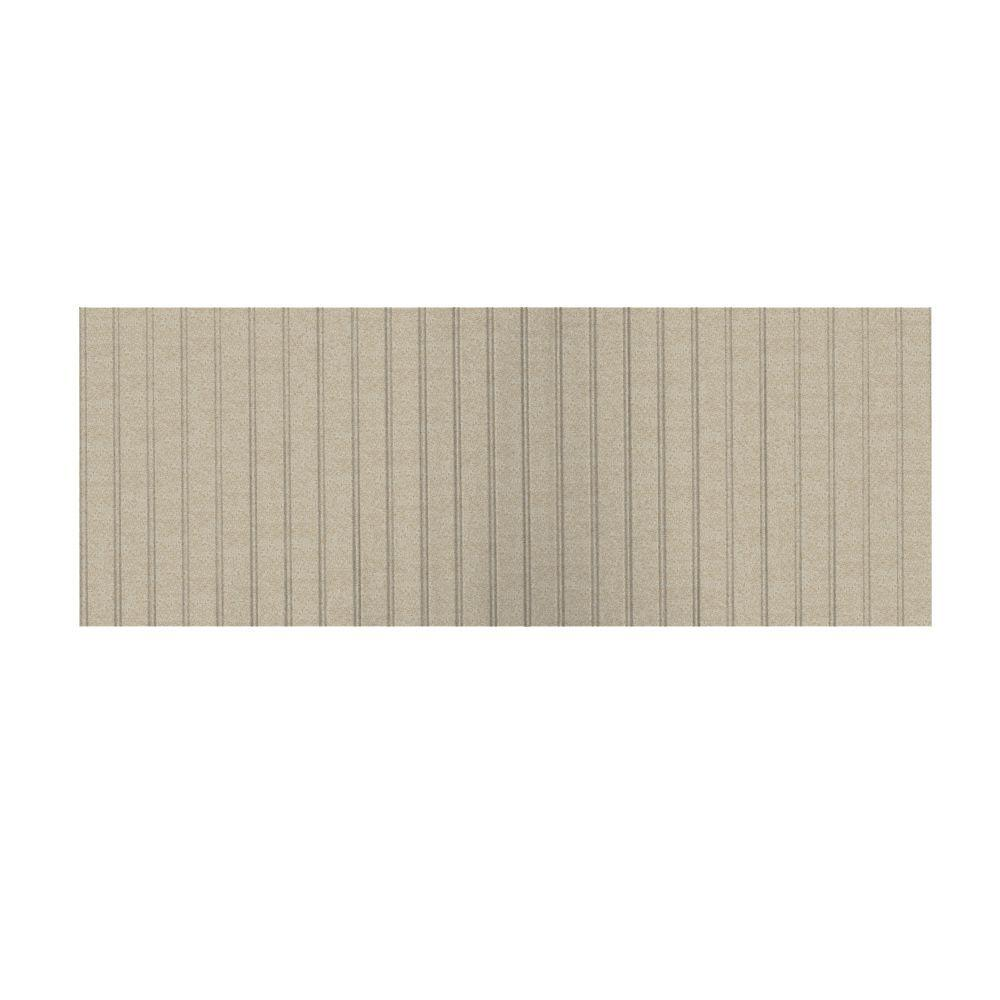 Swanstone 8 ft. x 3 ft. Beadboard One Piece Easy Up Adhesive Wainscot in Winter Wheat-DISCONTINUED