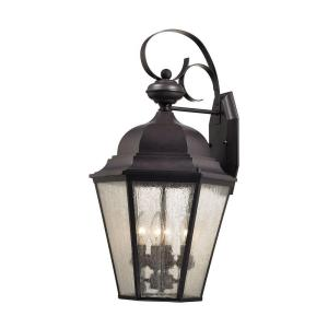 Titan Lighting Cotswold 4-Light Oil Rubbed Bronze Outdoor Wall Lamp by Titan Lighting