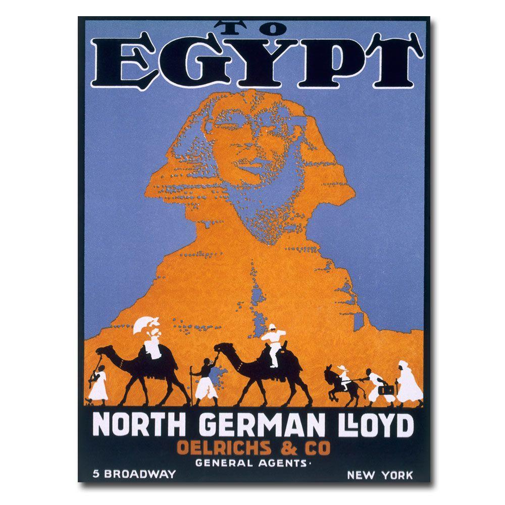 24 in. x 32 in .Egypt Norddeutscher Lloyd Canvas Art