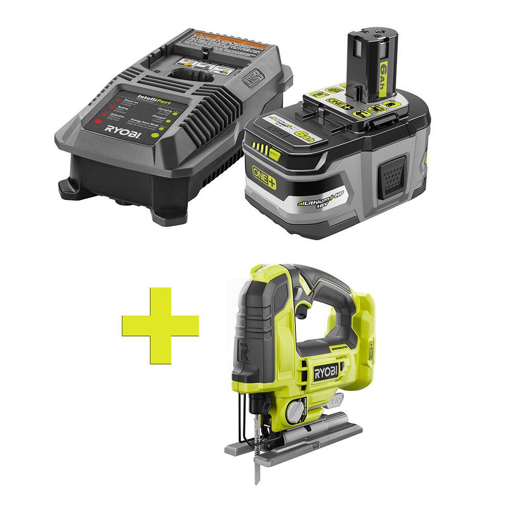 18-Volt ONE+ Lithium-Ion LITHIUM+ HP 6.0 Ah Starter Kit w/ Bonus ONE+ Brushless Jigsaw
