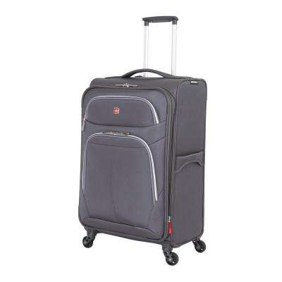 24 in. Grey Spinner Suitcase