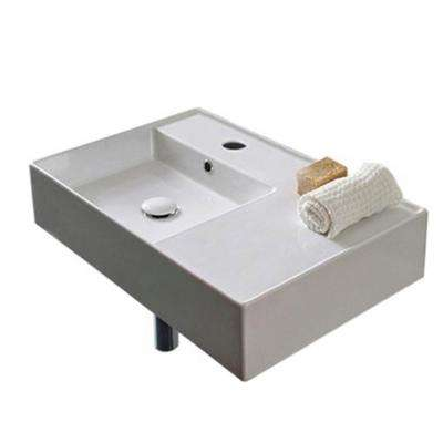 Teorema Wall Mounted Bathroom Sink in White