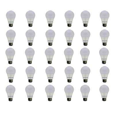 60W Equivalent Warm White A19 Dimmable Led Light Bulb (30 Pack)