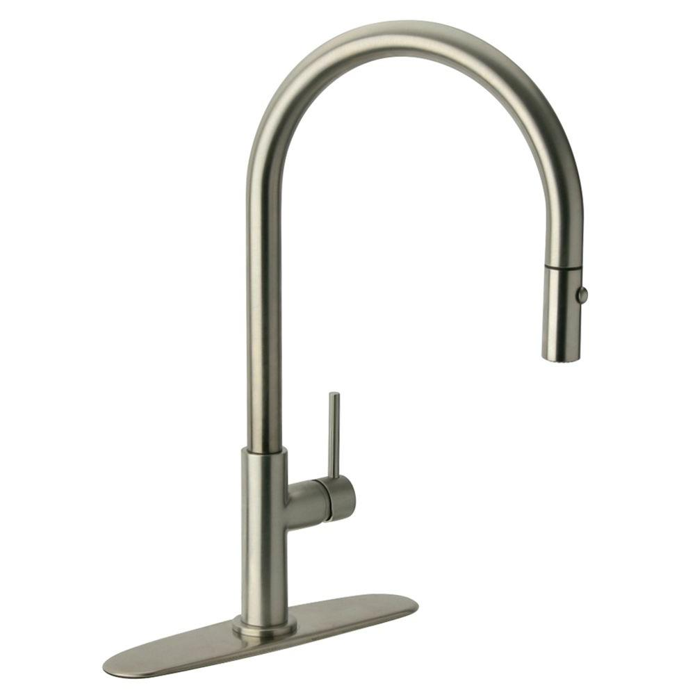 Genial Glacier Bay Carmina Single Handle Pull Down Sprayer Kitchen Faucet In  Stainless Steel