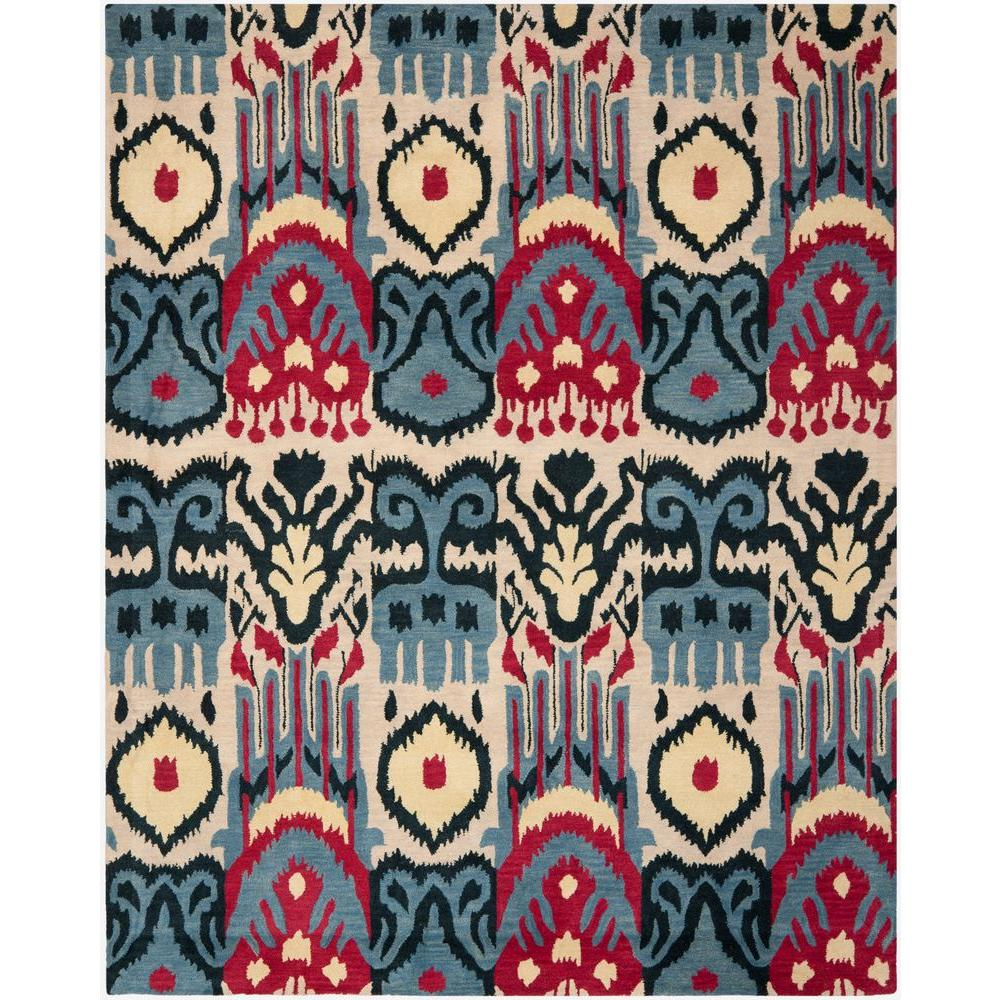 Safavieh Ikat Beige Blue 8 Ft X 10 Area Rug